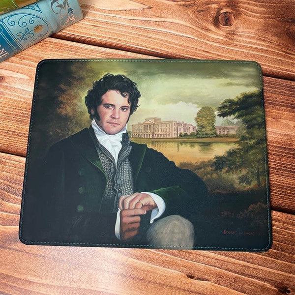 Faux Leather Mr Darcy at Pemberley Mouse Mat