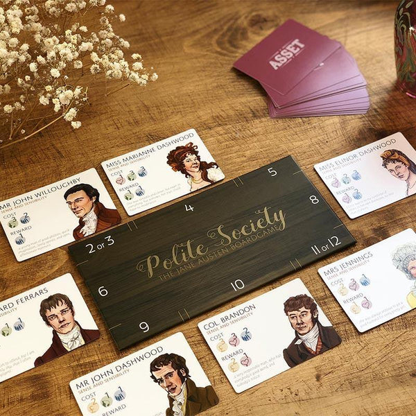 Gioco da tavolo di Polite Society: The Jane Austen - JaneAusten.co.uk