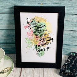 Pride and Prejudice Literary Print - JaneAusten.co.uk