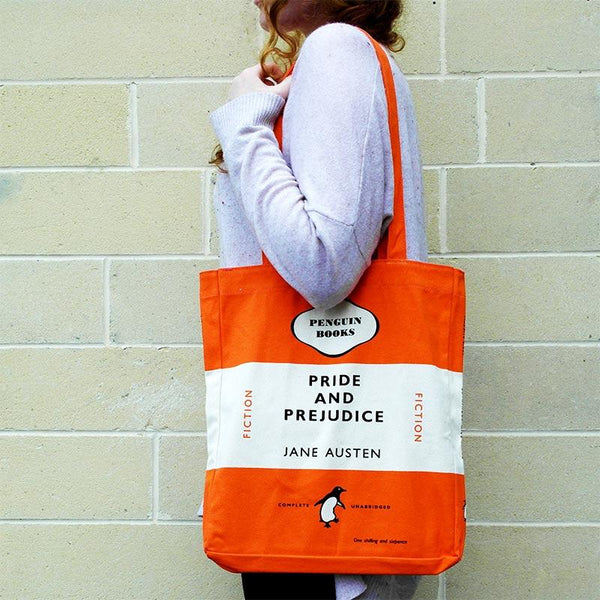 Pride and Prejudice Tote Bag - Penguin Book Cover - JaneAusten.co.uk