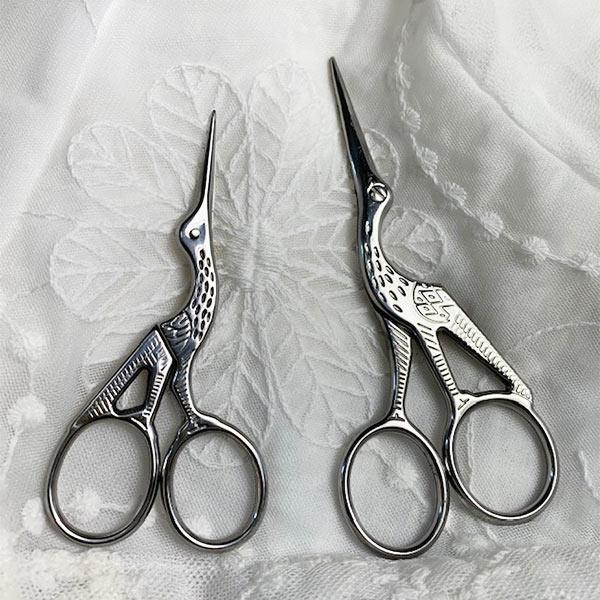 Stork Embroidery Scissors - Set of 2 - Jane Austen Online
