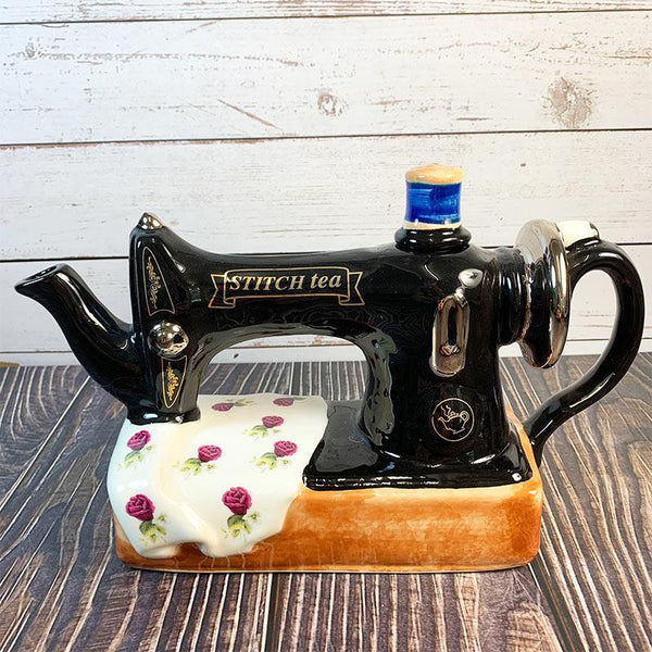 Handmade Teapot - Antique Sewing Machine - Jane Austen Online
