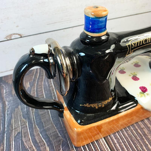 Handmade Teapot - Antique Sewing Machine - JaneAusten.co.uk