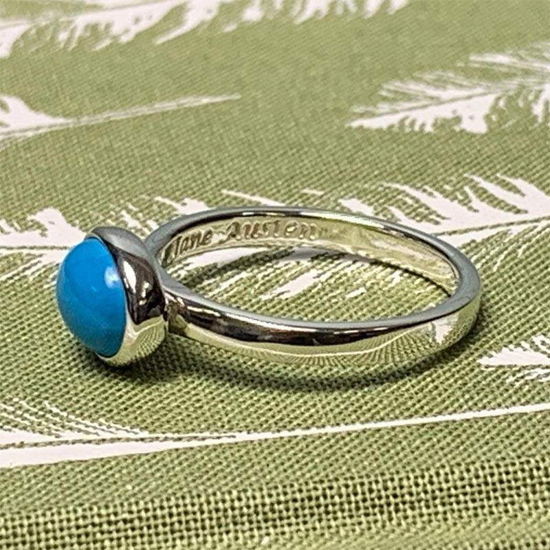 Replica dell'anello di Jane Austen in turchese e argento sterling - JaneAusten.co.uk