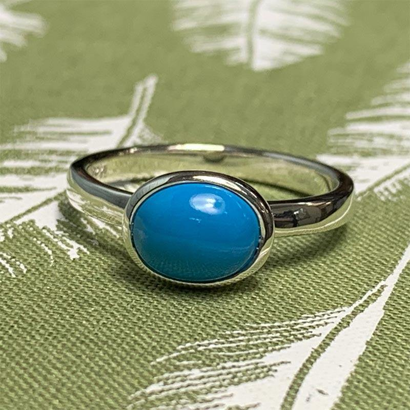 Jane Austen's Ring Replica in Turquoise and Sterling Silver