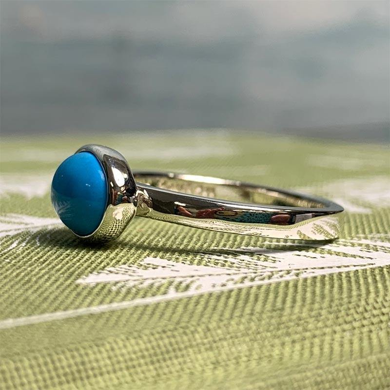 Jane Austen's Ring Replica in Turquoise and Sterling Silver - JaneAusten.co.uk