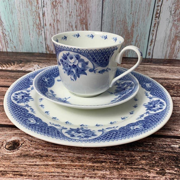 Exclusive Bone China Regency Teacup, Saucer and Plate Set - Jane Austen Netherfield Collection