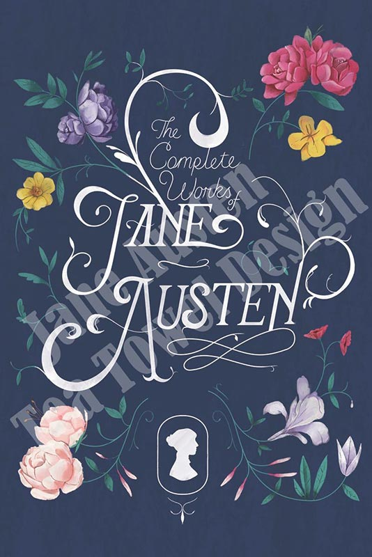 Exclusive Jane Austen Tea Towel - The Complete Works - Jane Austen Online