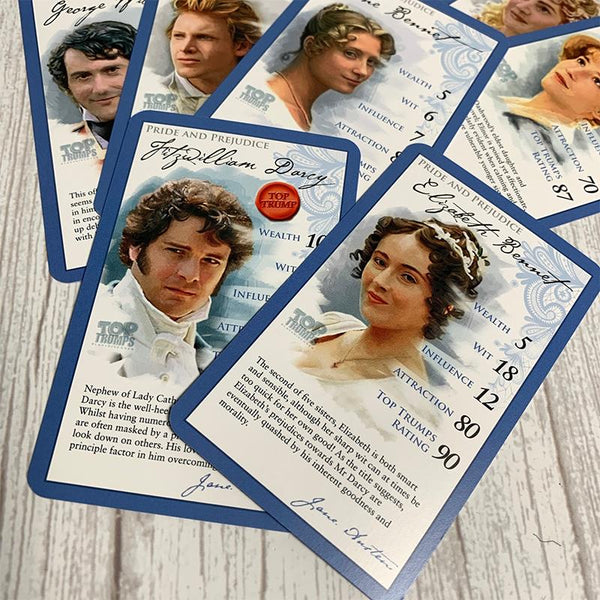 Gioco ufficiale di carte Jane Austen Top Trumps - JaneAusten.co.uk