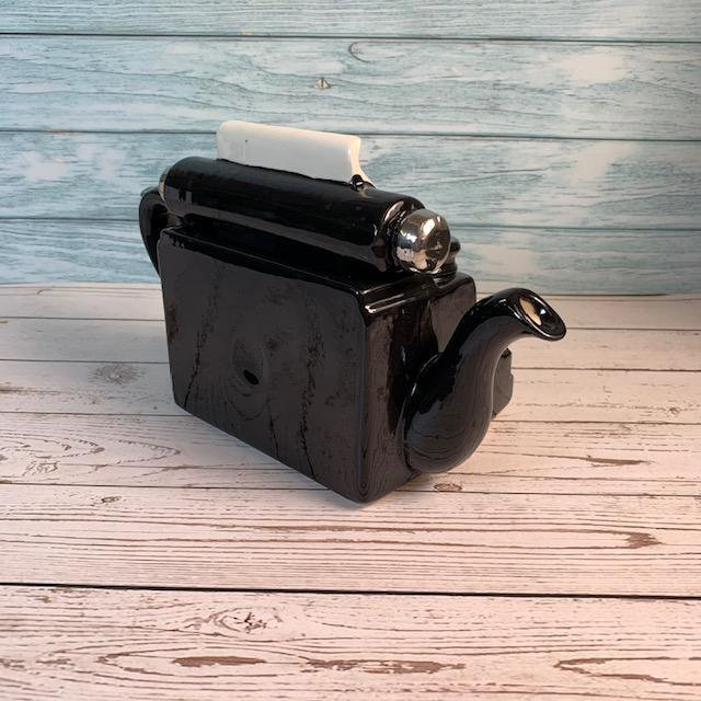 "Exclusively Handmade Typewriter Teapot - ""Emma Chapter 1"" - Jane Austen Online"
