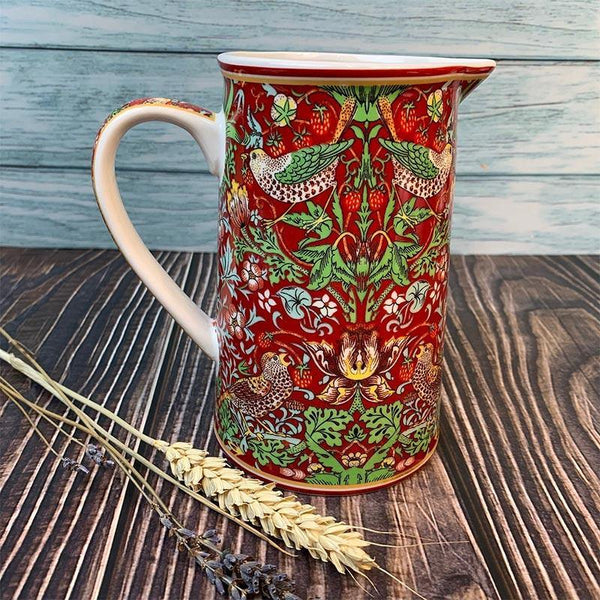 William Morris Strawberry Thief Jug - JaneAusten.co.uk