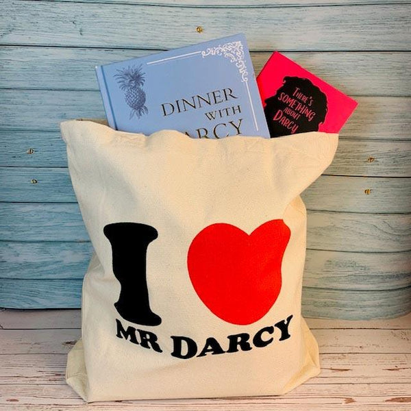 Borsa tote I Love Mr Darcy - Bianca - JaneAusten.co.uk
