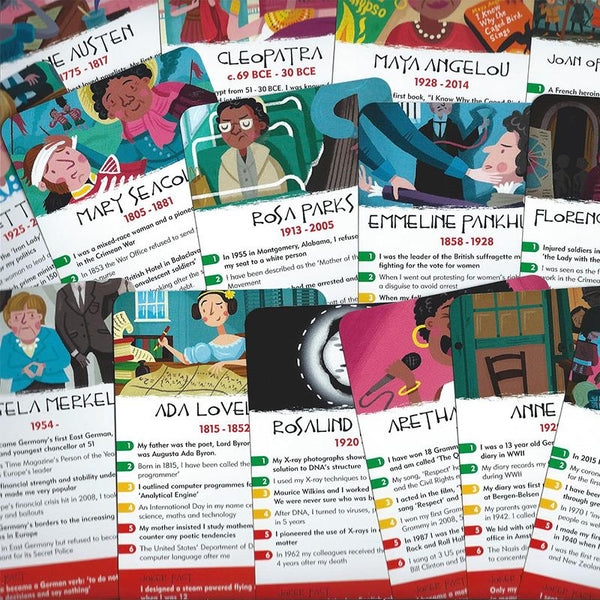 History Heroes - Women in History Card Game - JaneAusten.co.uk