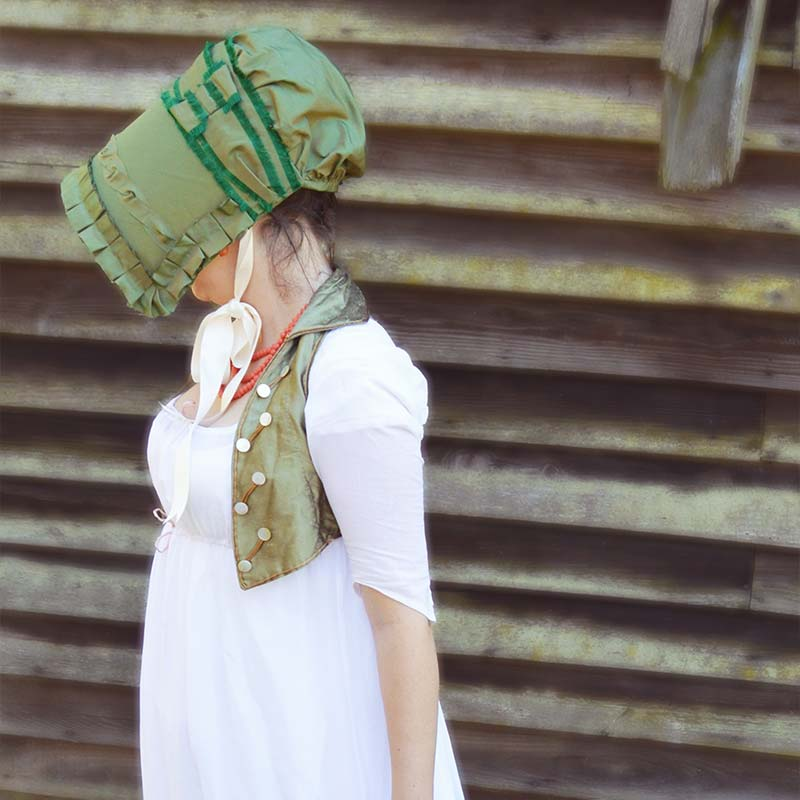 Patrón de gorro Regency - Mariah - JaneAusten.co.uk