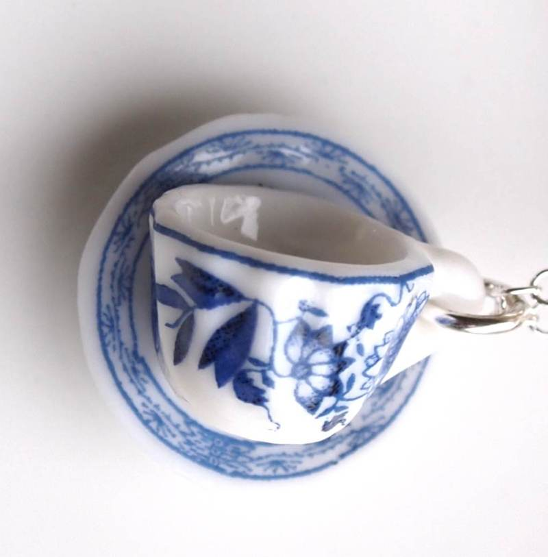 Afternoon Tea Jewellery: Tea Cup and Saucer Earrings - Jane Austen Online