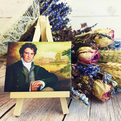 Mr. Darcy Miniature Canvas and Easel - Jane Austen Online
