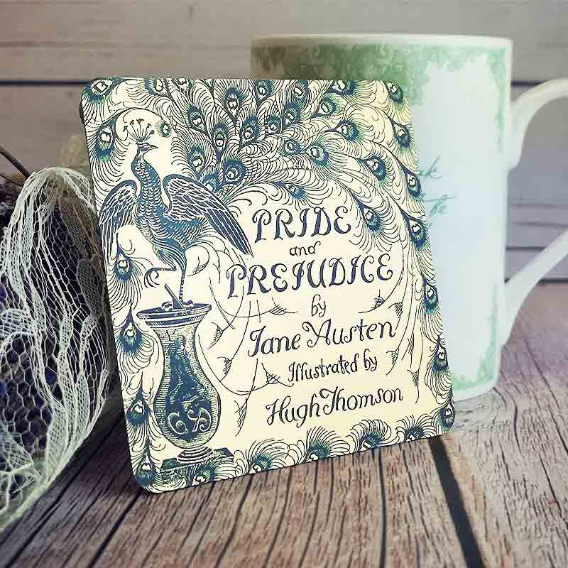 Illustrated Pride & Prejudice Jane Austen Coaster - JaneAusten.co.uk