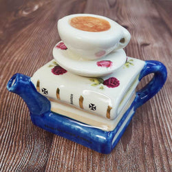 Handmade Jane Austen Teapot - Jane Austen Books and Teacup - One Cup - JaneAusten.co.uk
