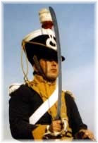 Trooper in the 12th Light Dragoons, wearing the 'new' uniform of 1812.