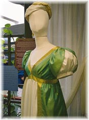 This Evening Ensemble was researched, designed and constructed by Yvonne Roe, Gloucester.