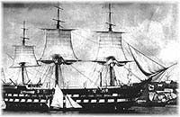HMS Ganges, built in 1819 as a reproduction of HMS Canopus.