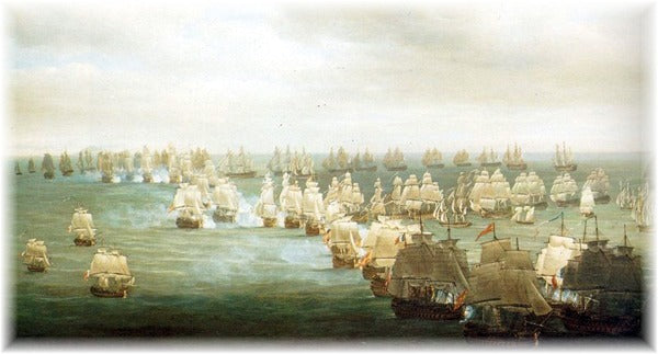 Trafalgar Battle - 21th of Octaber 1805 - Situation at 13h, Nicholas Pocock (1740-1821)