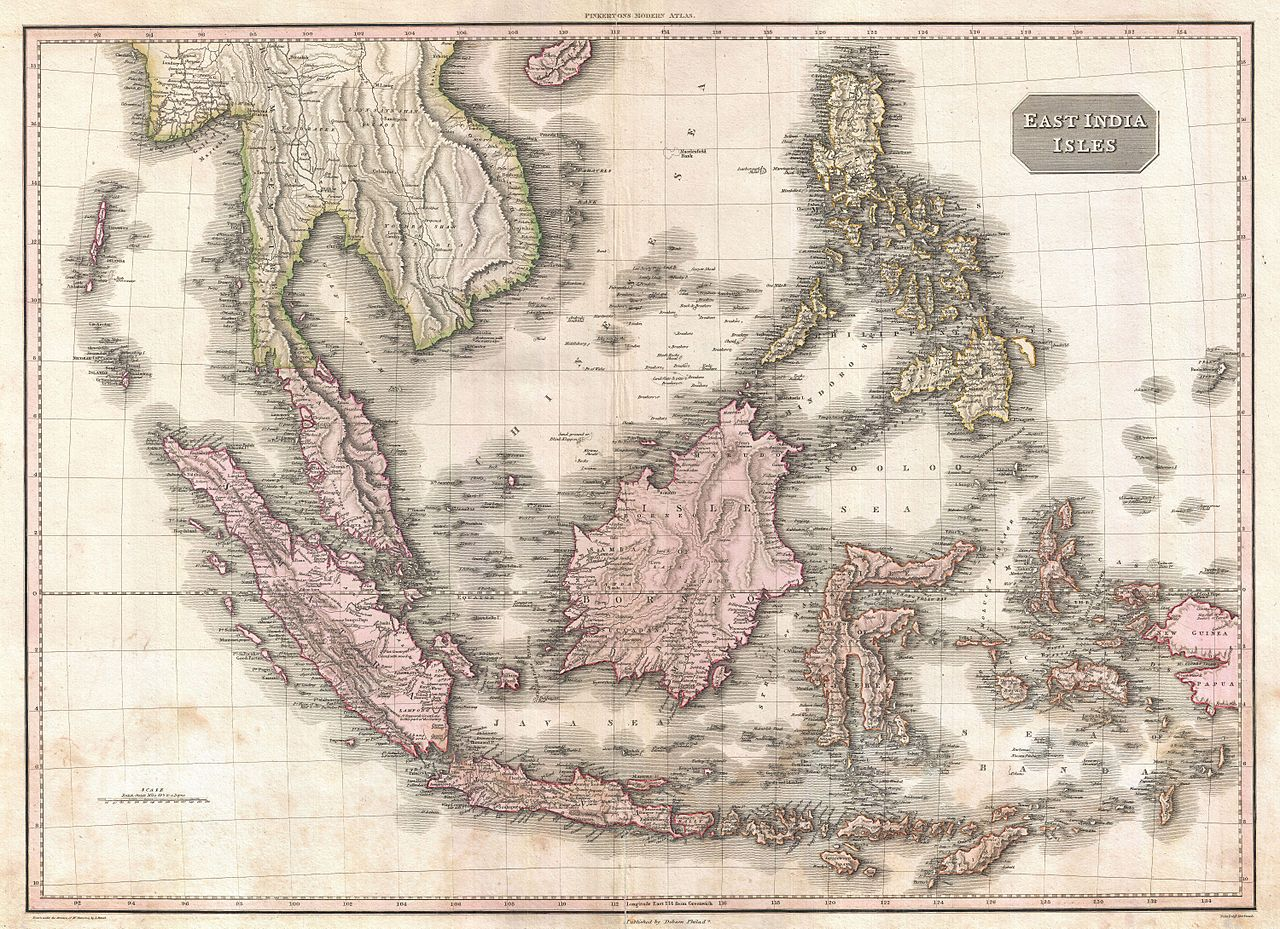 Map of the Dutch East Indies in 1818.