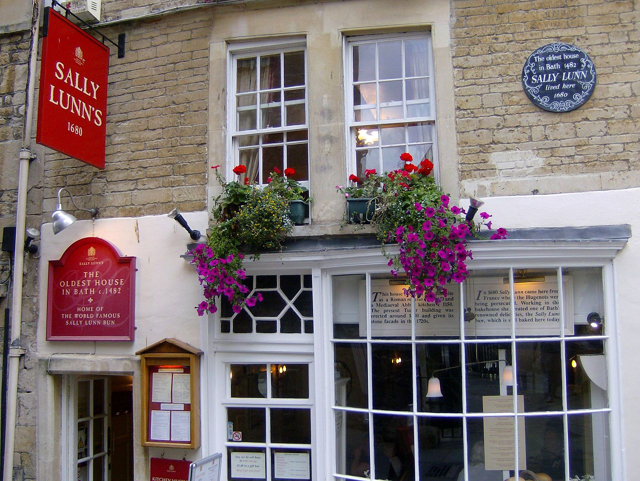 Sally Lunn's Tea Room i Bath.