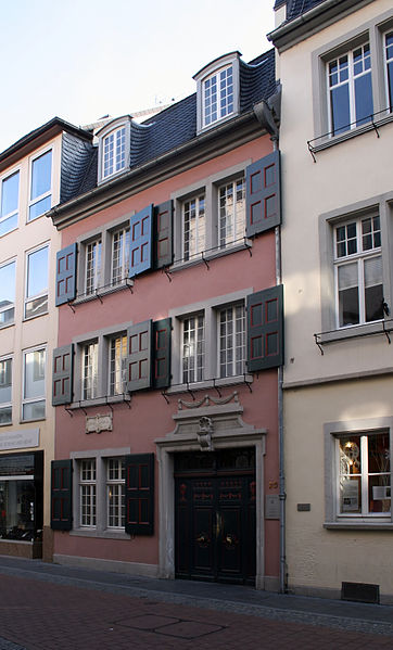 House of birth, Bonn, Bonngasse 20, now the Beethoven-Haus museum