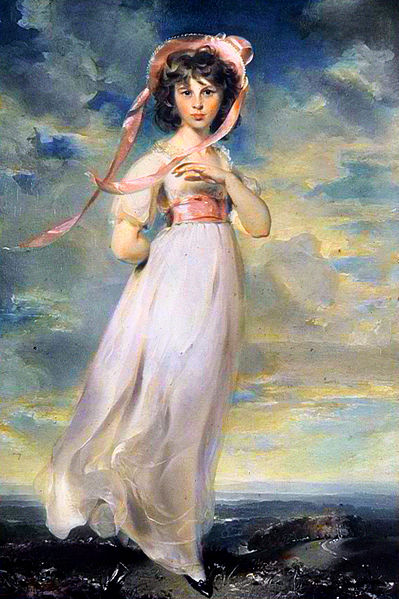 """Pinkie, by Thomas Lawrence, 1794, around the same time as the """"Rice Portrait"""" of Jane Austen (1788)."""