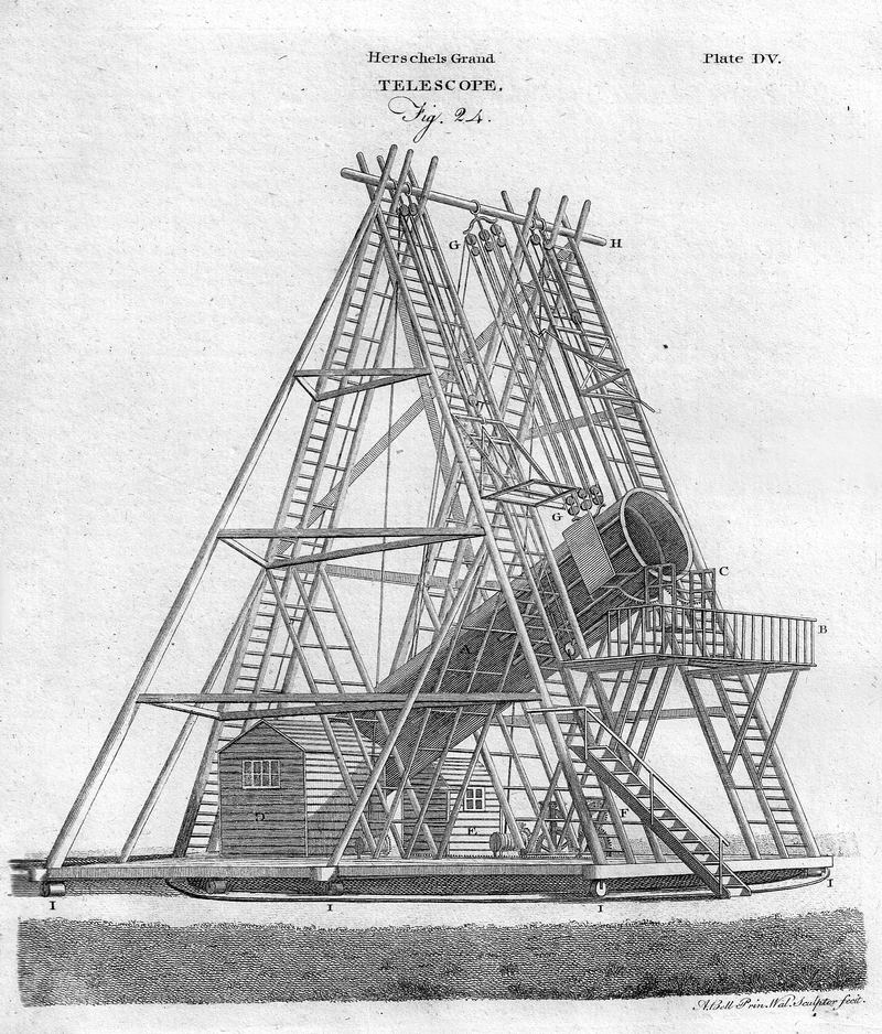 Herschel's 40-foot telescope.