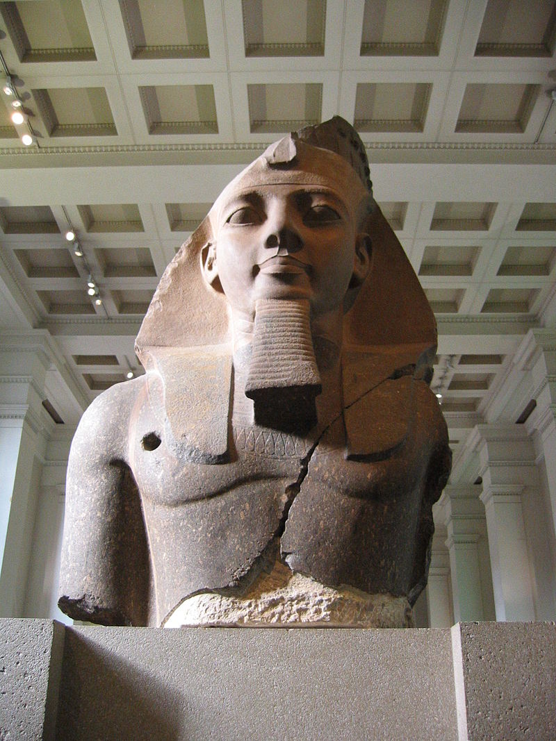 Younger Memnon, a colossal figure on display at the British Museum.
