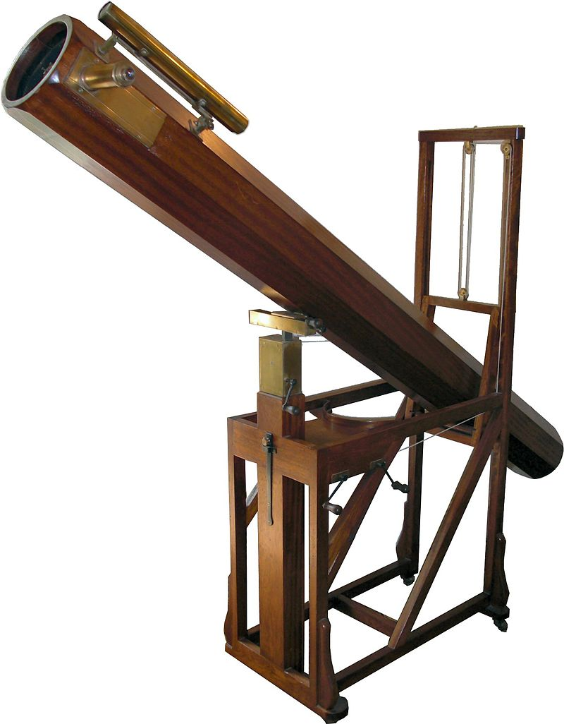 Replica in the William Herschel Museum, Bath, of a telescope similar to that with which Herschel discovered Uranus