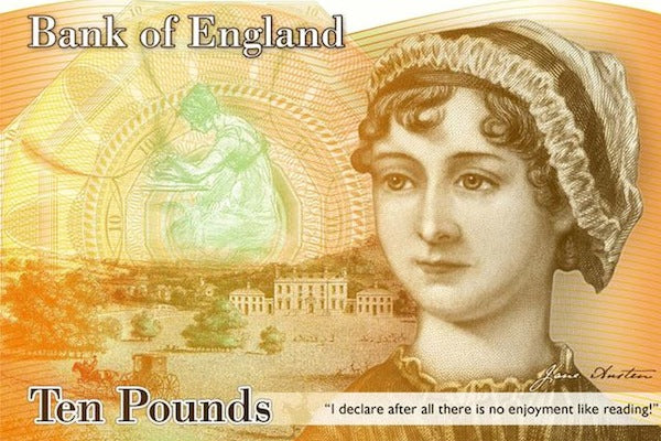 What would Jane have thought to find herself featured on the ten pound note?
