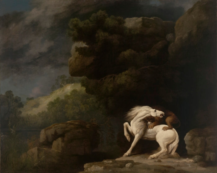 A Lion Attacking a Horse, oil on canvas, 1770, by Stubbs. Yale University Art Gallery
