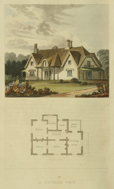 Ackermann's Repository - 1817 Cottage Ornee plate 6 - Copy
