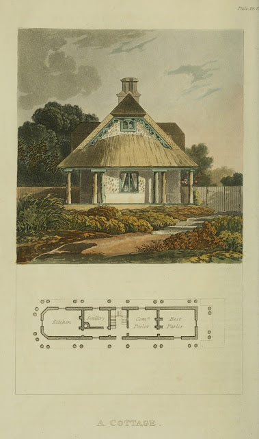 Ackermann's Repository - 1817 Cottage plate 19
