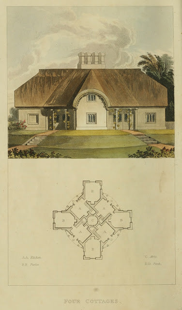 Ackermann's Repository - 1817 Four Cottages plate 12