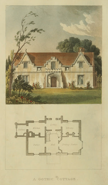 Ackermann's Repository - 1817 Gothic Cottage plate 18
