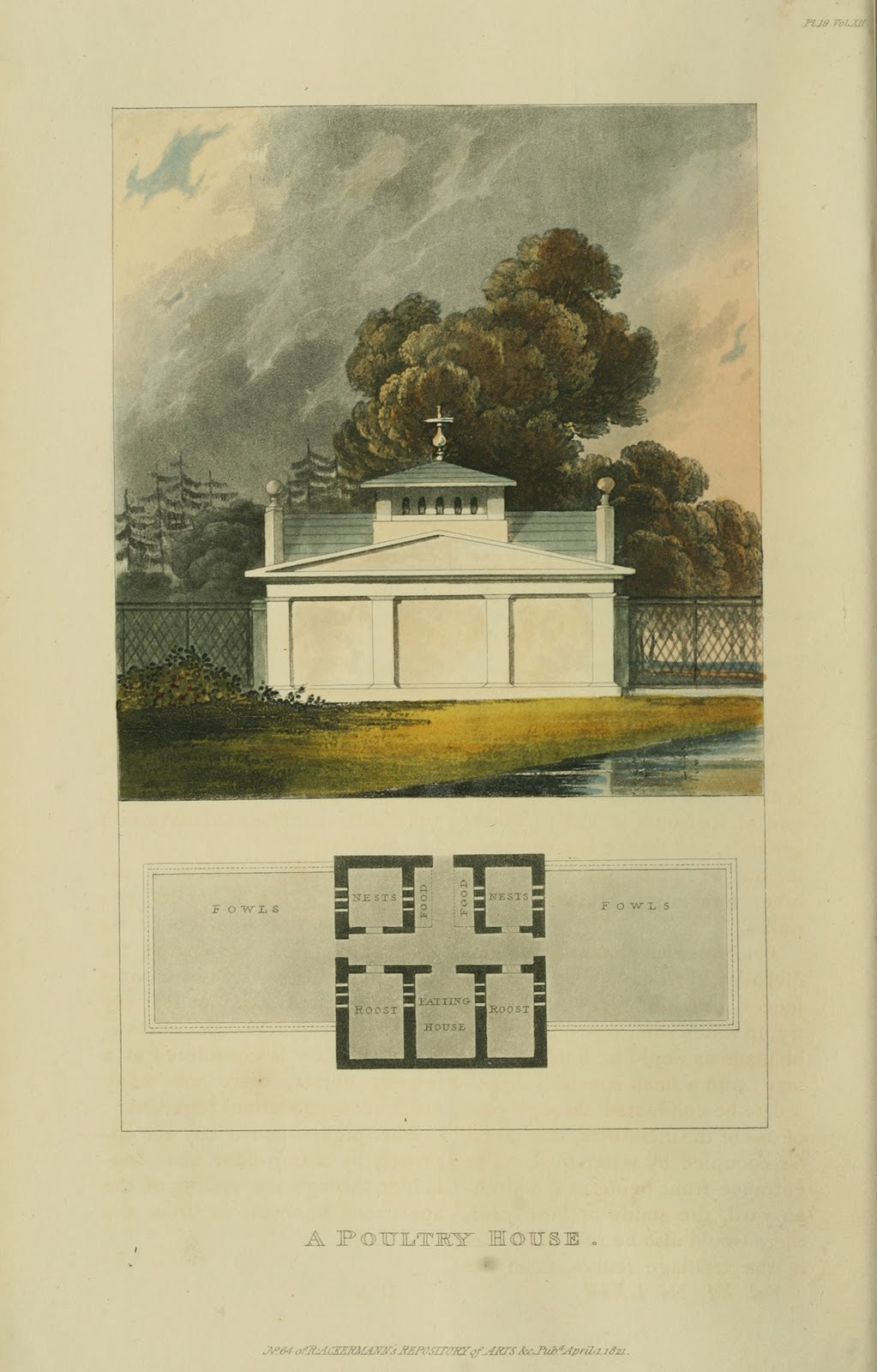 Ackermann's Repository - 1821 Poultry House plate 19
