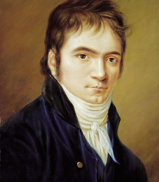 Beethoven in 1803, painted by Christian Horneman.