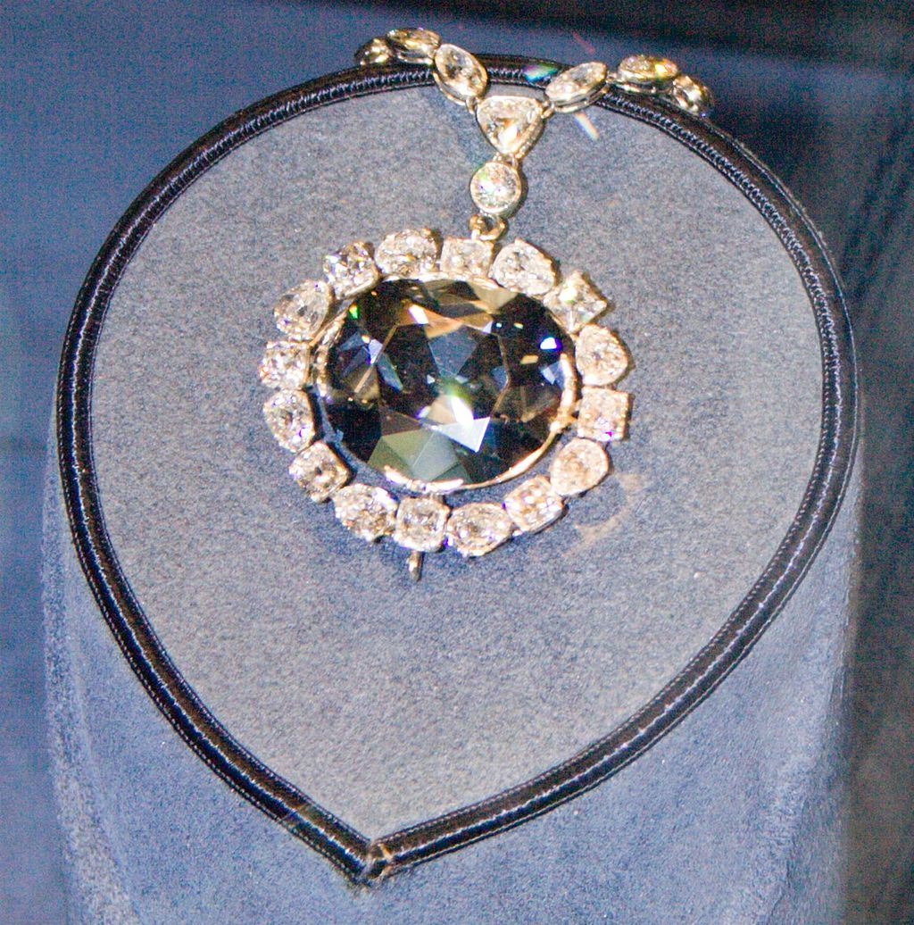 Hope Diamond in the National Museum of Natural History.