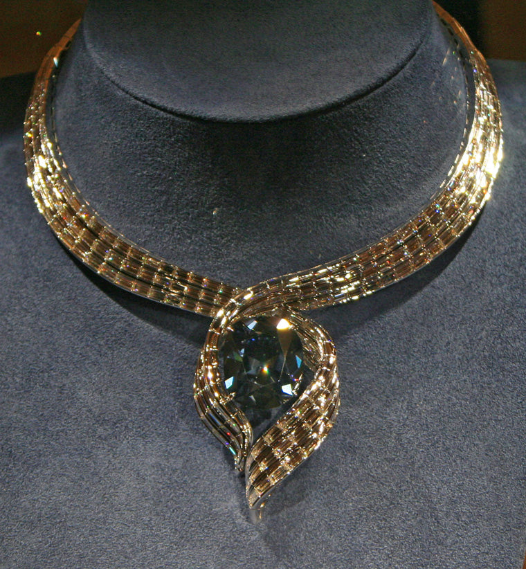 "Hope Diamond in the ""Embracing Hope"" setting."