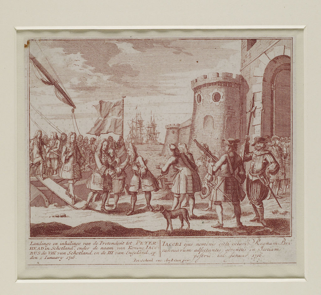 Historic image depicting the Jacobite Uprising of 1715.