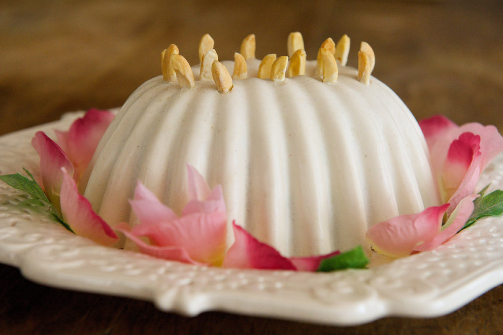 Jenny's recipe for Hannah's Blancmange, pictured here, can be found at jerseylovesfood.com.
