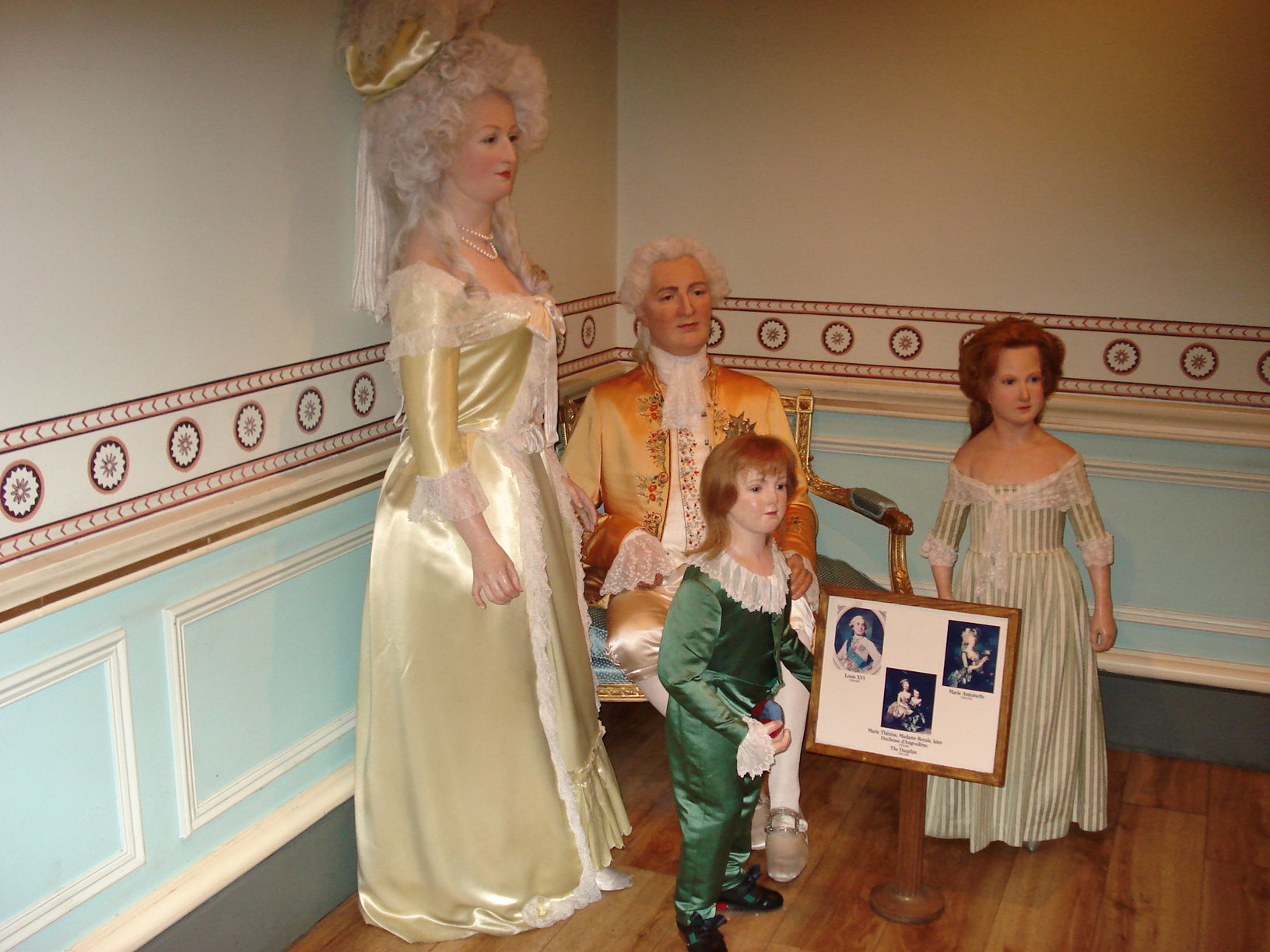 The French Royal family, as modeled by Madame Tussaud.