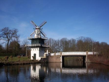 The Groenendaal windmill today, landmark of Heemstede.