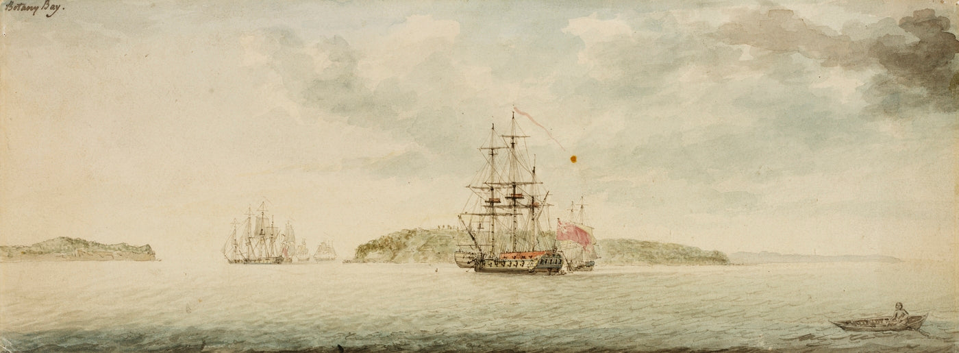Botany Bay New South Wales ca 1789 watercolour by Charles Gore