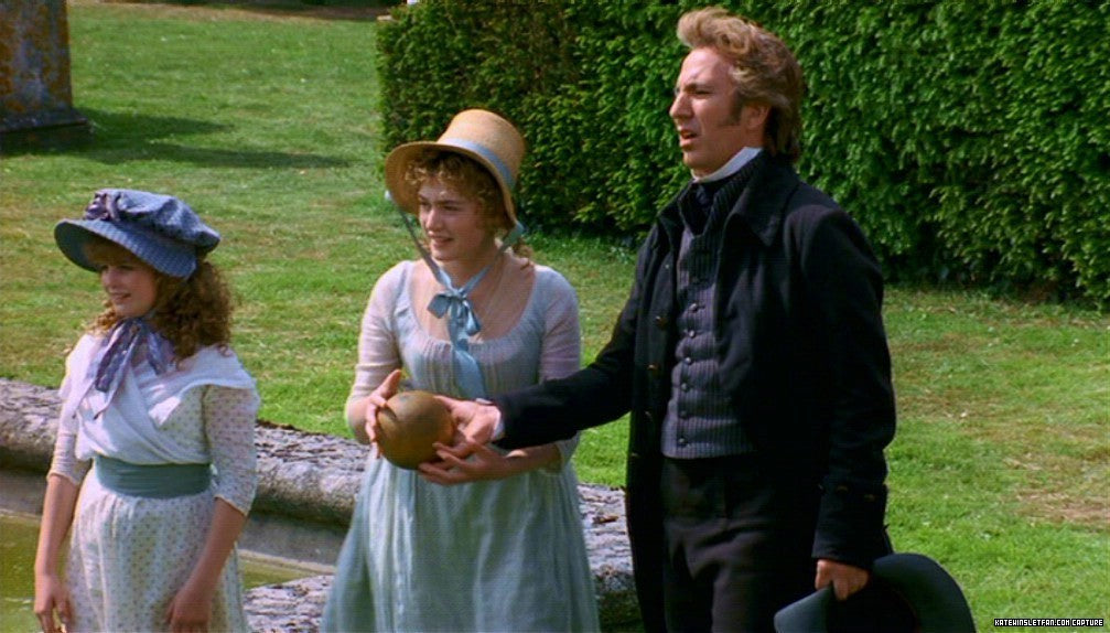 Colonel Brandon, Marianne and Margaret Dashwood enjoy a game of Lawn Bowling in 1995's Sense and Sensibility.