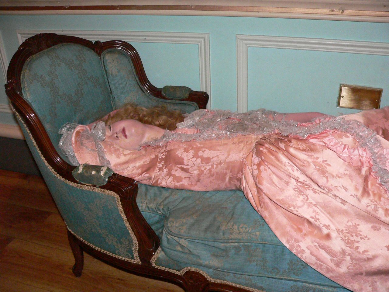 "The oldest display is that of ""Sleeping Beauty"", Madame DuBarry."